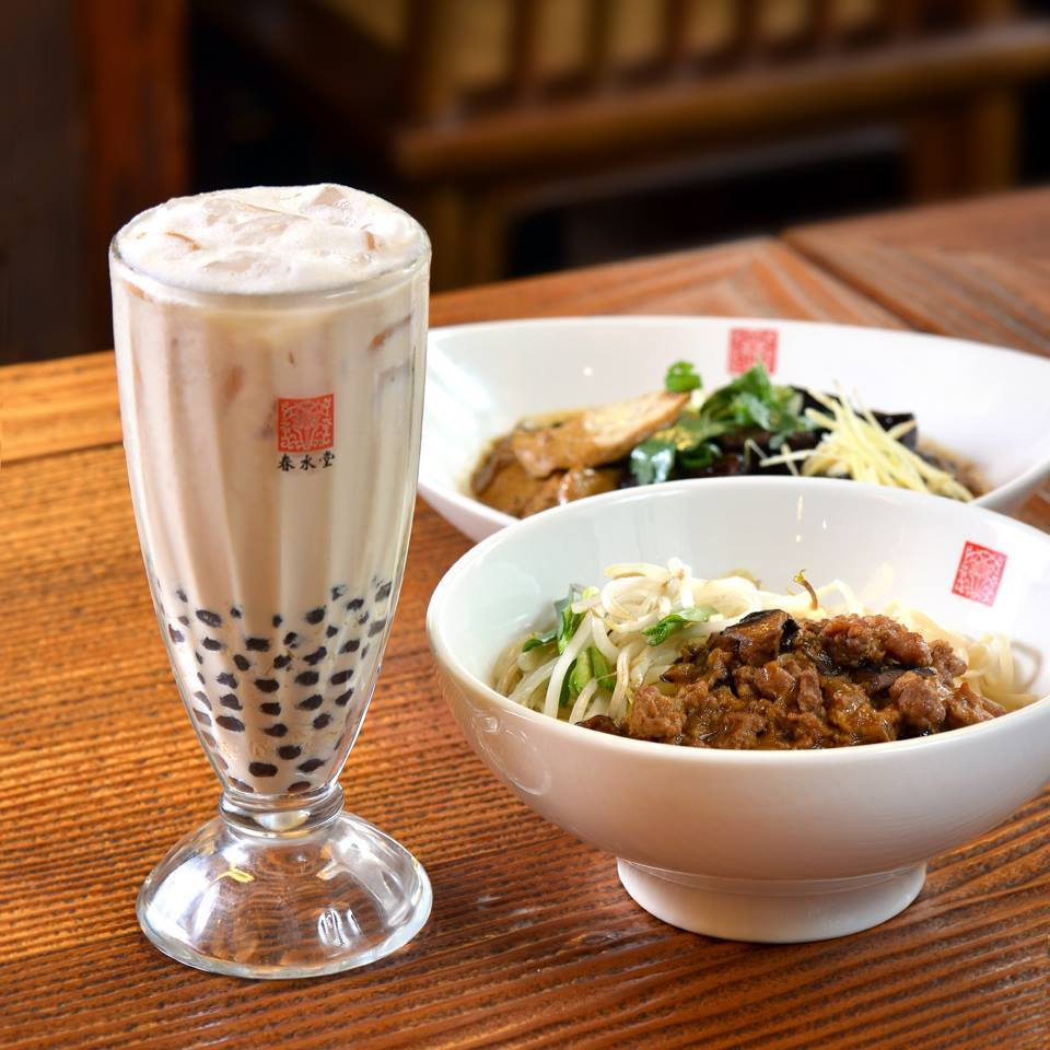 Tapioca and noodle served at Chun-Sui-Tang