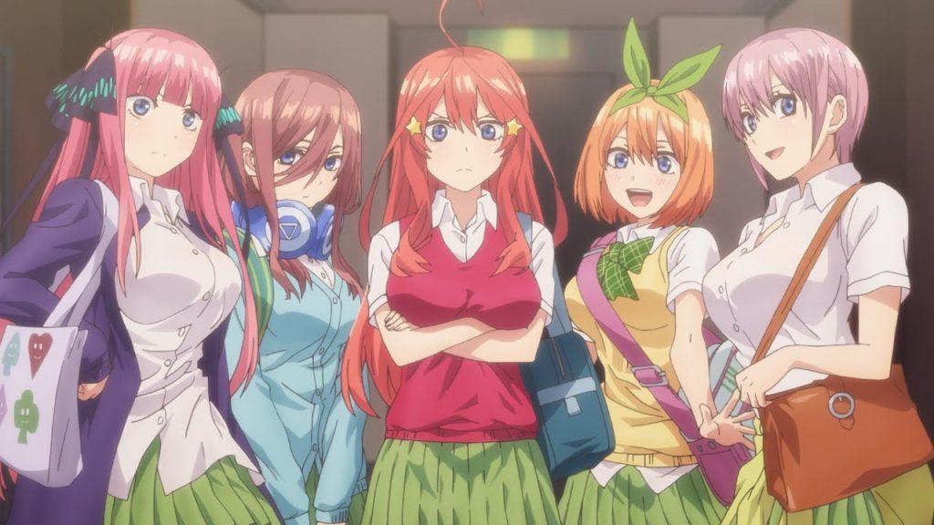 "Image from the anime ""5-tobun no Hanayome"""
