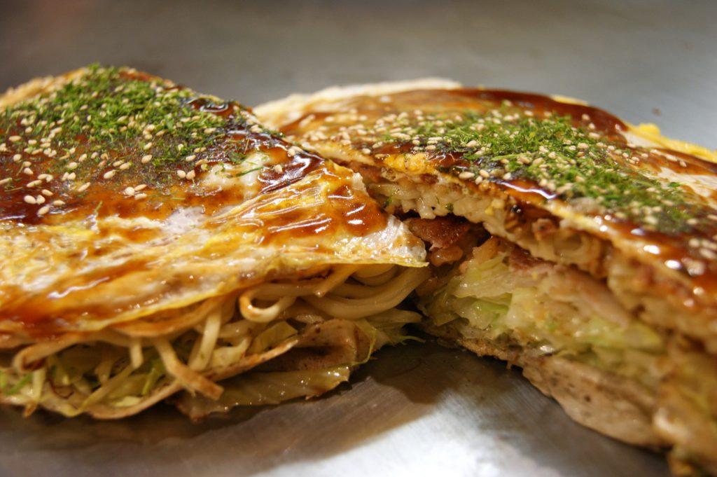 Hiroshima-style Okonomiyaki with Soba Noodles