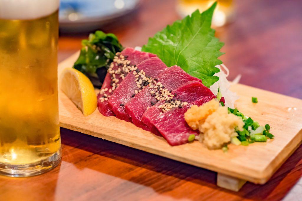 Basashi raw horse meat