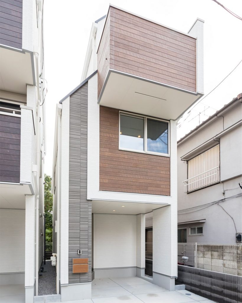 Typical single-family stand-alone home in Greater Tokyo