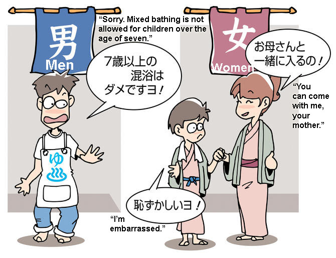 Age limitations are causing confusion at hot springs and public baths across Japan, Image Sourced from Nishinihon Shinbun (English translation by author)