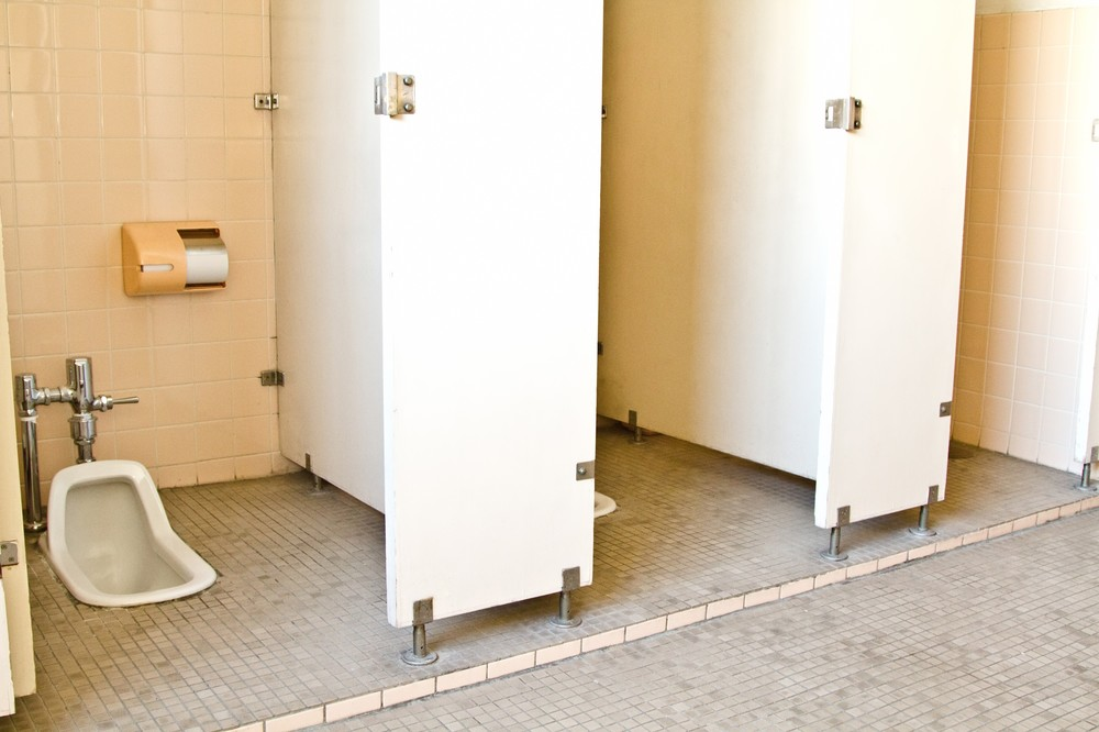 Traditional Japanese toilets