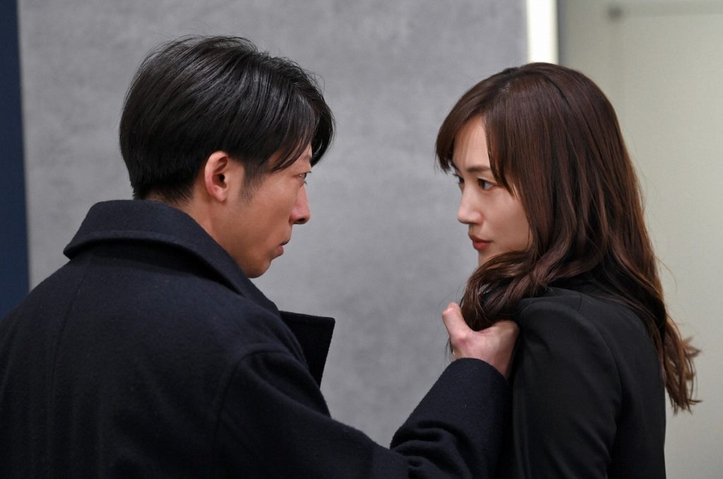 Haruka Ayase acting with Issei Takahashi in Heaven and Hell