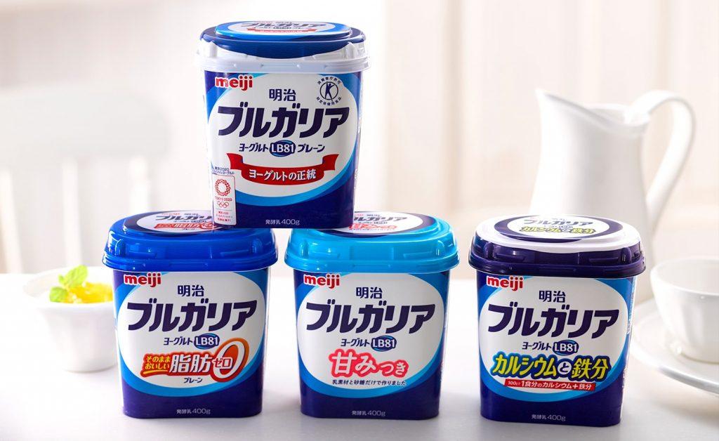 "Meiji's ""Bulgaria"" brand yogurt"